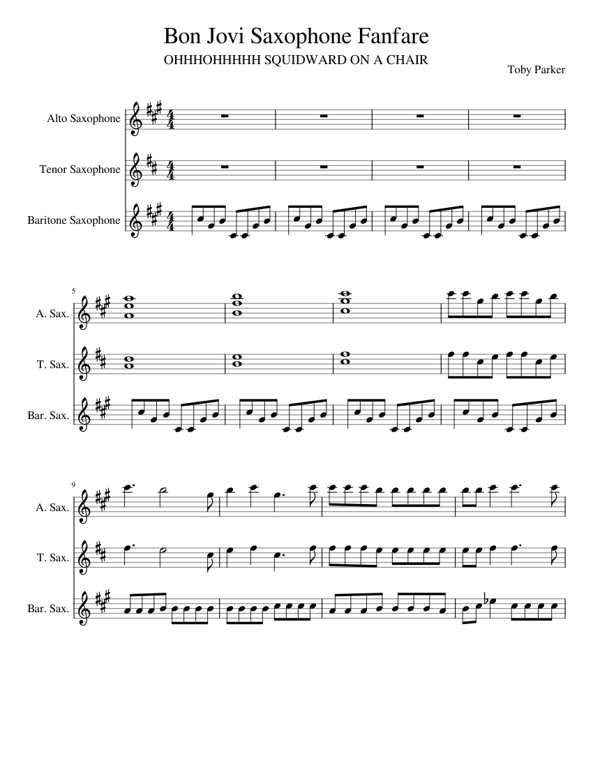 cheap_thrills_sax_fanfare_revised Sheet music for