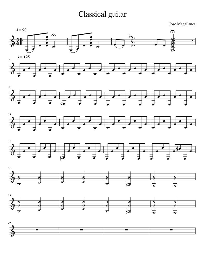 Pdf classical guitar