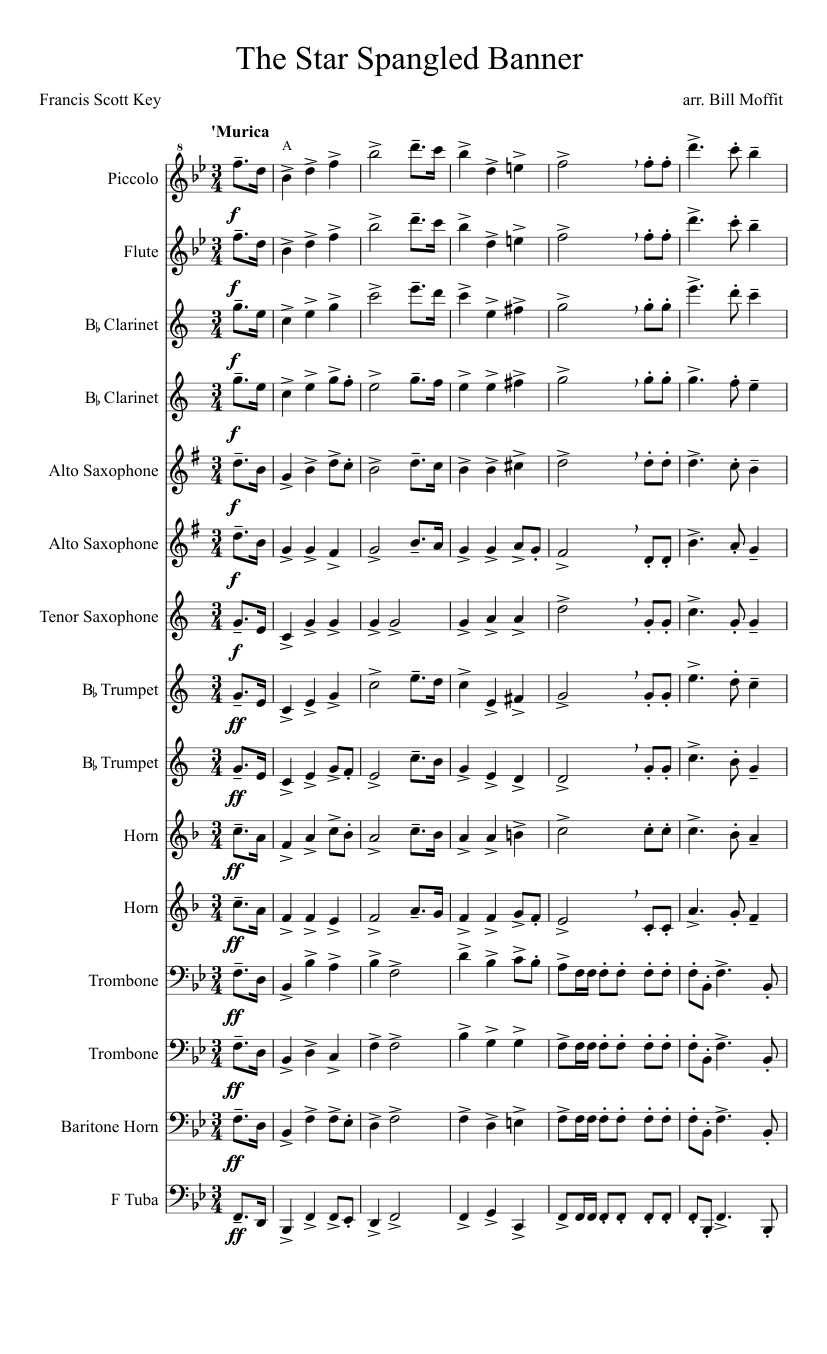Star spangled banner alto sax pdf files