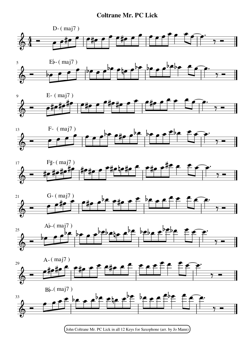 JOHN COLTRANE GIANT STEPS TRANSCRIPTION PDF