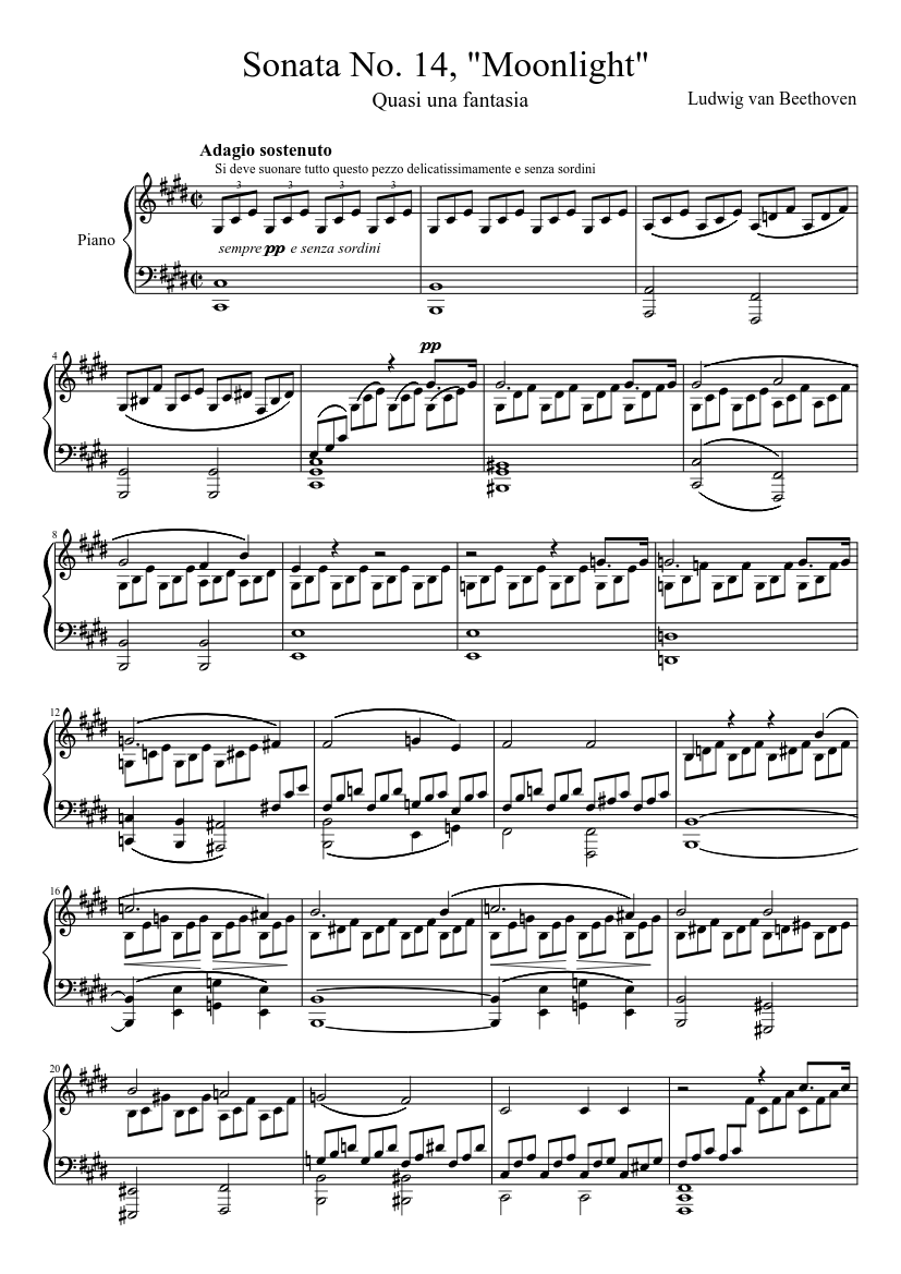 Pdf moonlight sonata sheet music