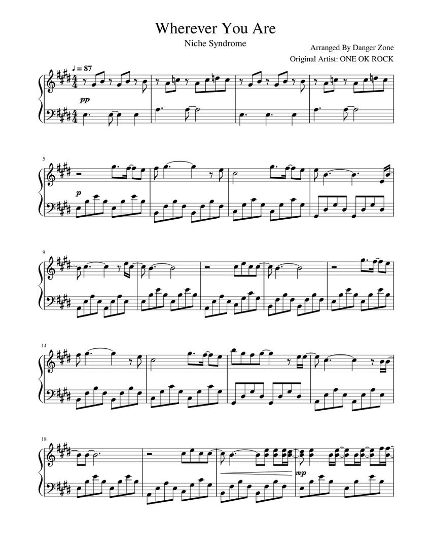 Wherever You Are Sheet music for Piano Solo   Musescore.com