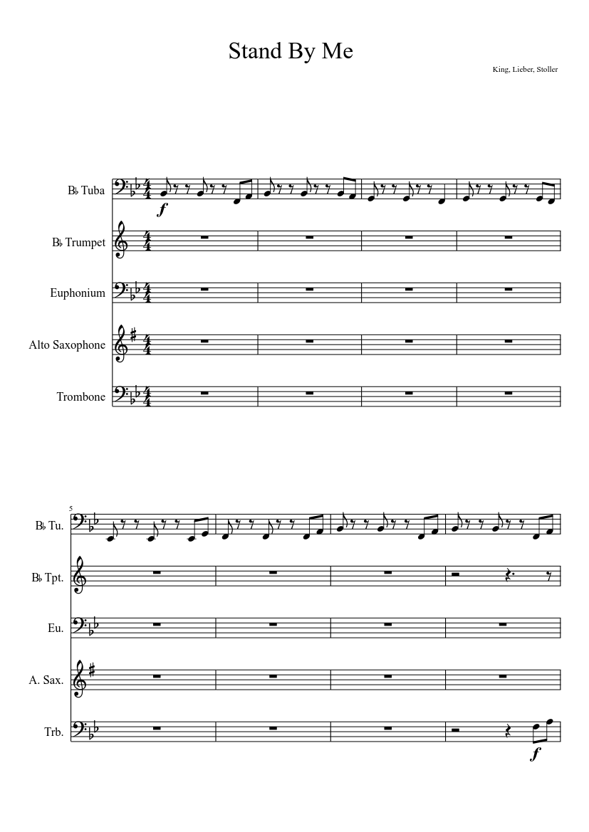 Stand By Me Sheet Music Download Free In Pdf Or Midi