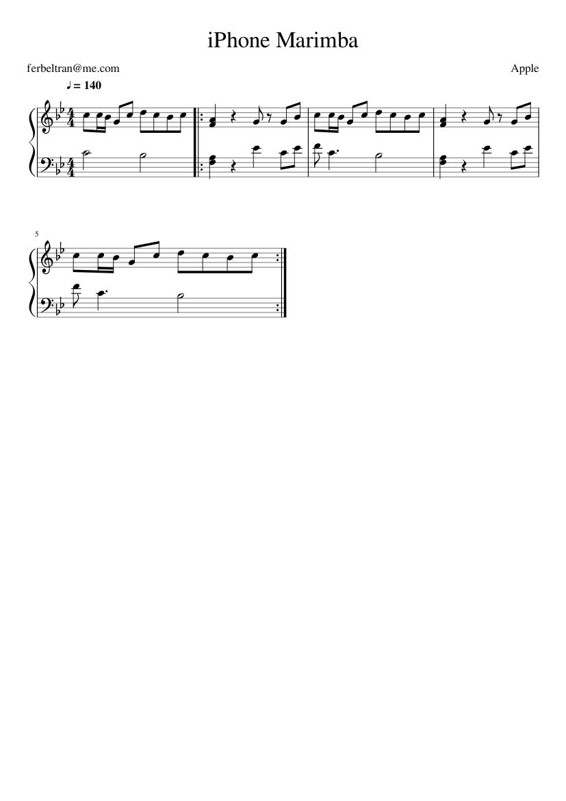sonnerie iphone 7 marimba