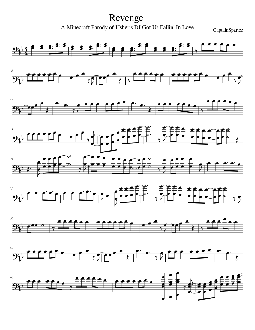 Revenge Minecraft Parody Sheet music for Trombone (Brass Duet