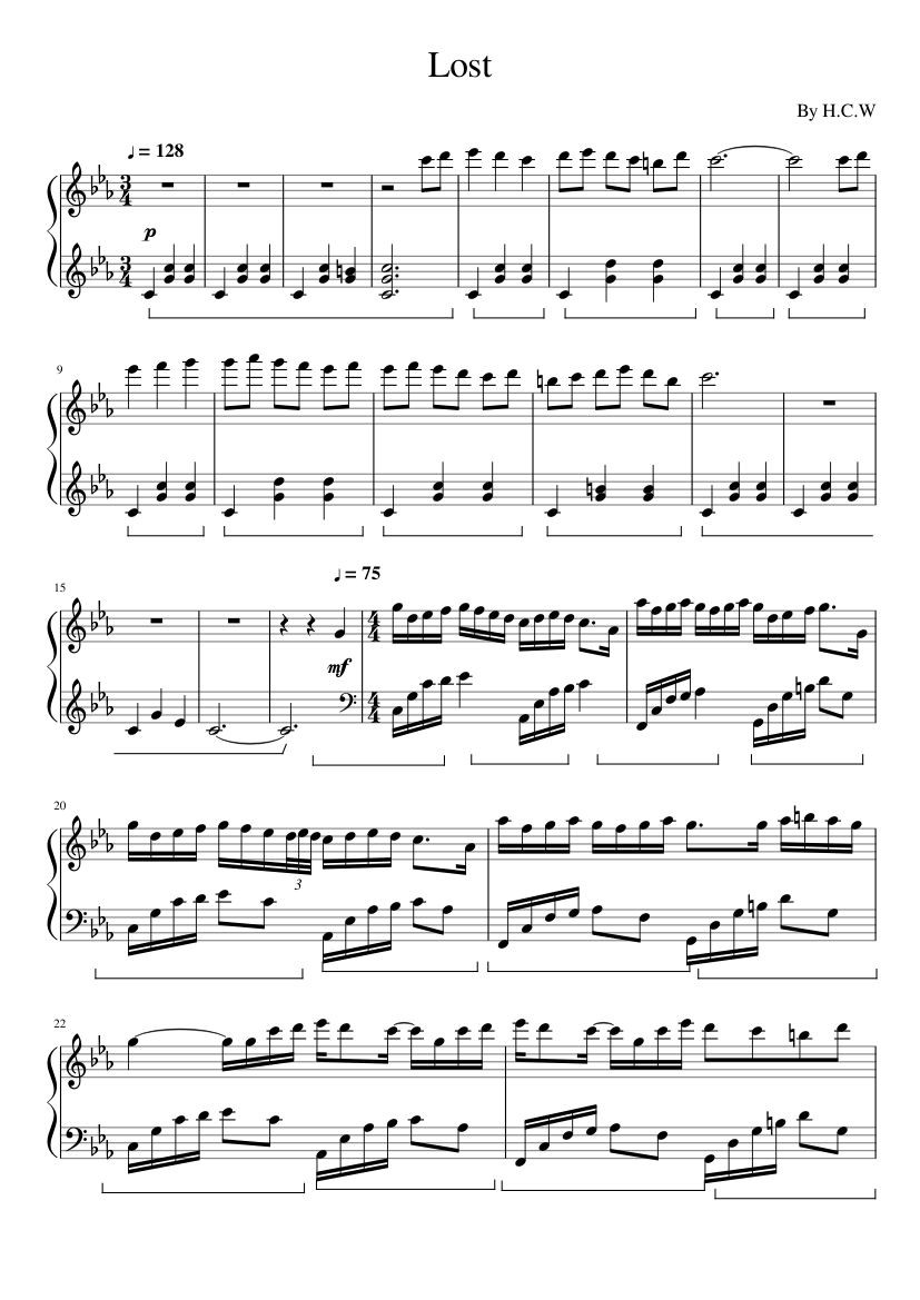 lost in japan piano sheet music
