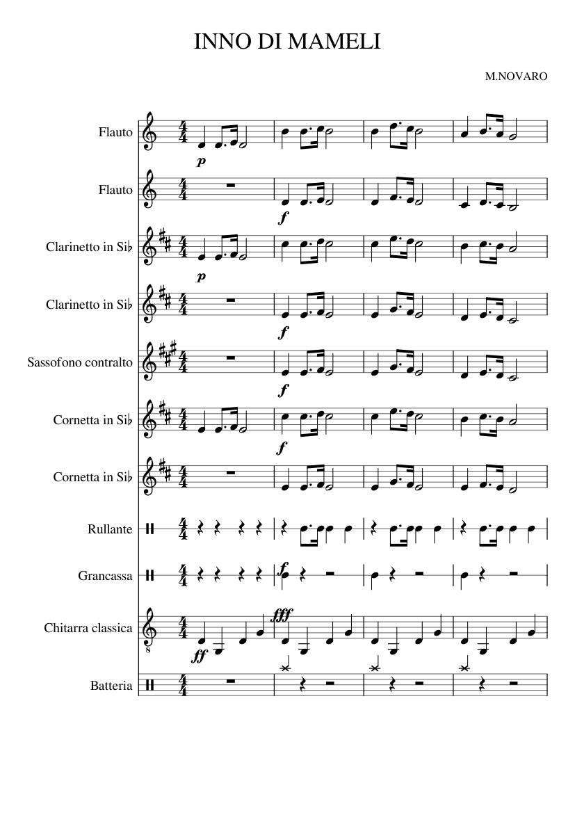 Inno di mameli (italian national anthem) sheet music download free.