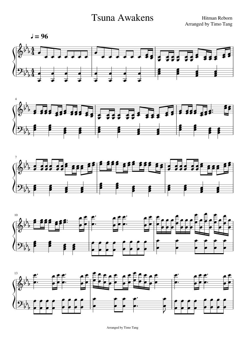 Tsuna Awakens Sheet Music For Piano Solo Musescore Com
