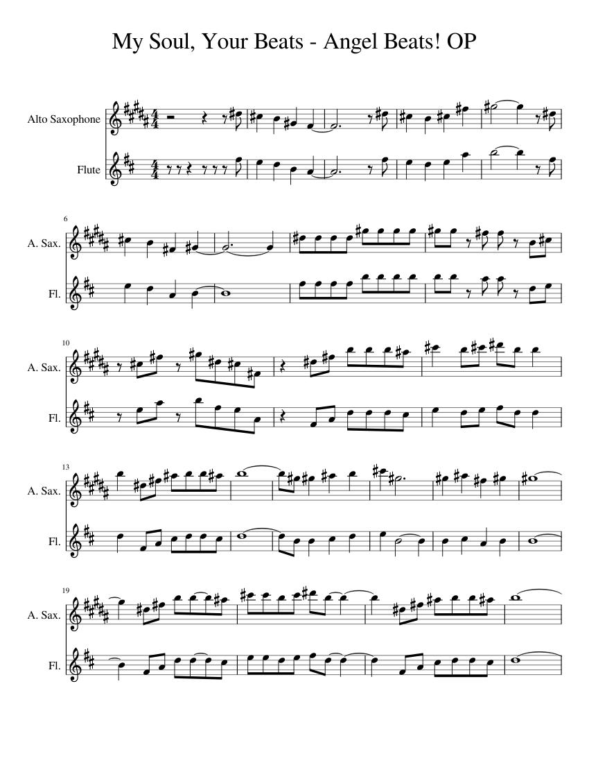Angel Beats Op my soul, your beats - angel beats! op - piano tutorial