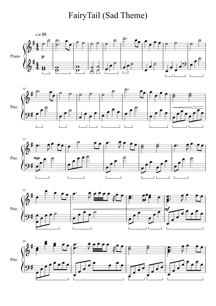 Sad happy birthday song sheet music for piano download free in pdf.