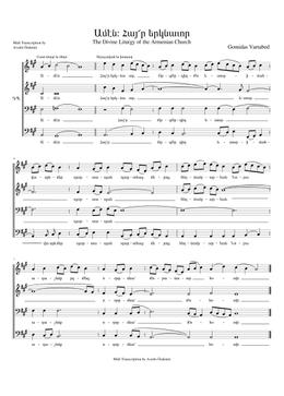 Հայր Երկնաւոր - Hayr Yergnavor sheet music arranged by Avedis Özdemir for Choral
