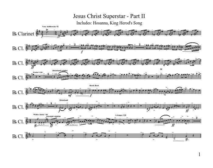 Jesus christ superstar (complete) sheet music for piano, voice.