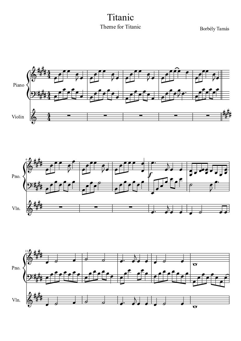 Rose - Titanic - Free Piano Sheet Music