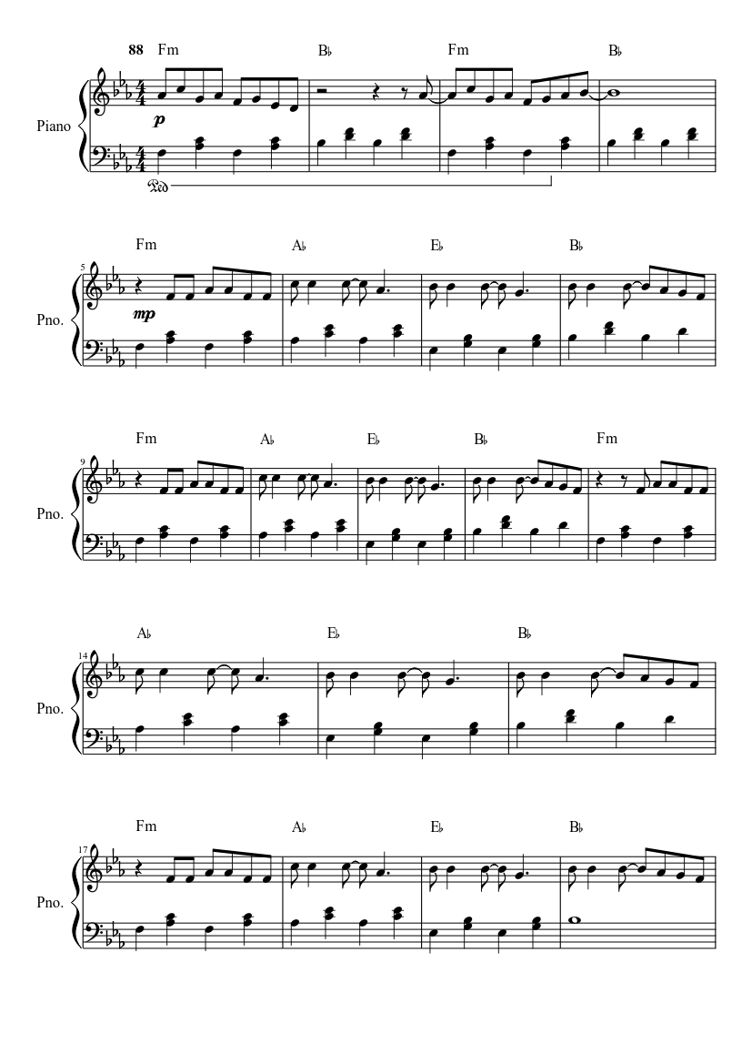 Mad World Sheet music for Piano | Download free in PDF or