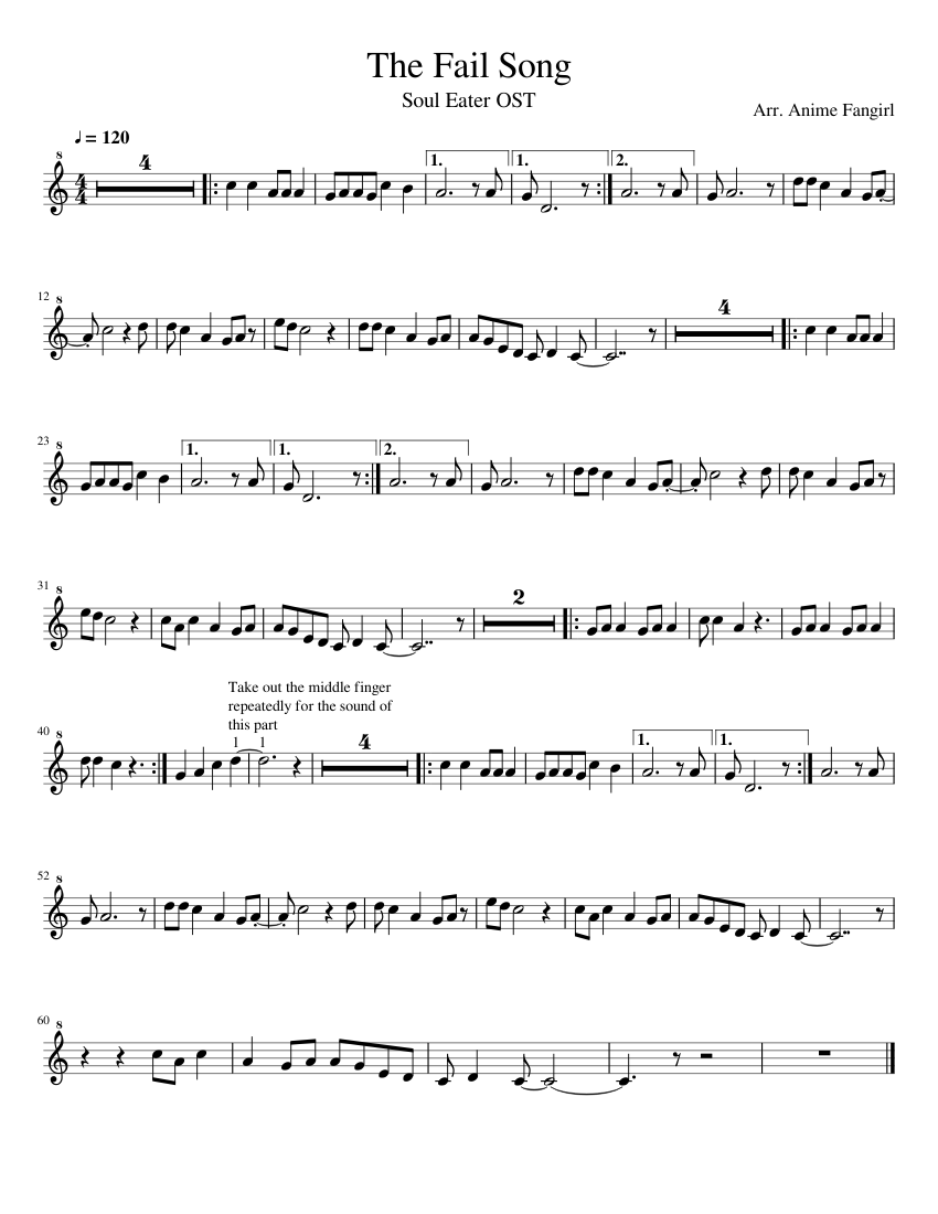Paper moon from soul eater sheet music 1 of 4 pages legend of.