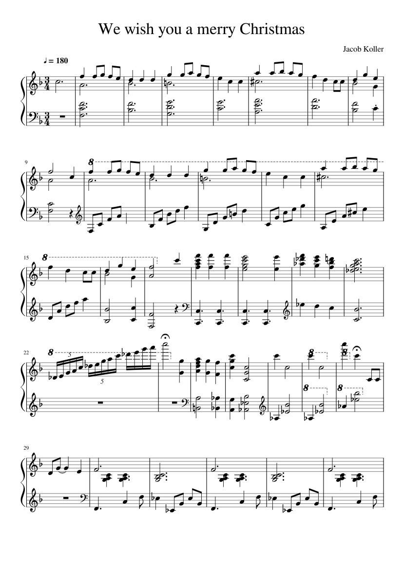 merry Christmas Sheet music for Piano