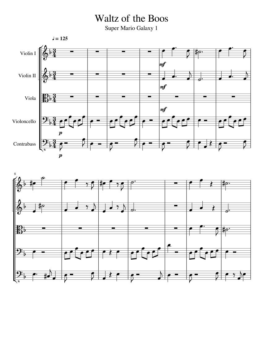 Waltz of the Boos (String Orchestra) sheet music for Violin