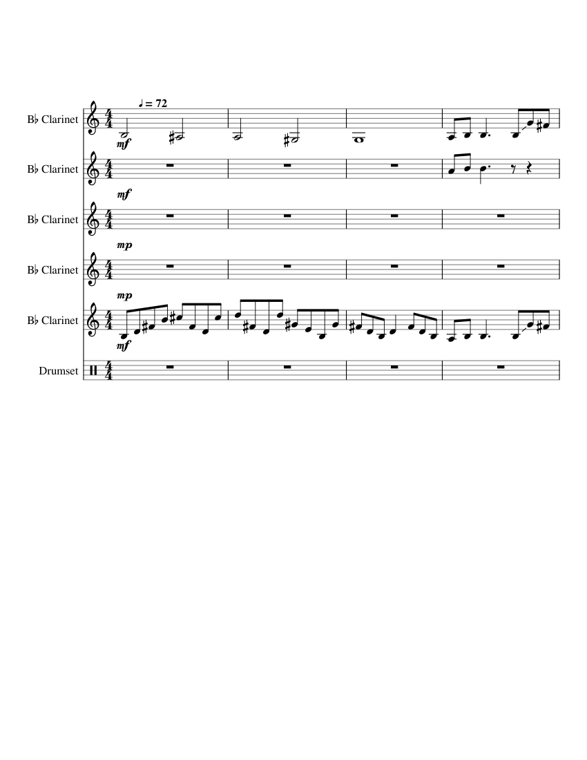 score_0?no cache=1531731560 stairway to heaven clarinet quintet sheet music for clarinet