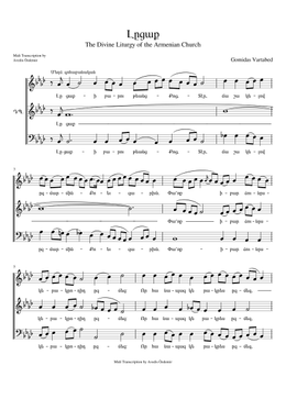 Լըցաք - Lıtsak sheet music arranged by Avedis Özdemir for SATB