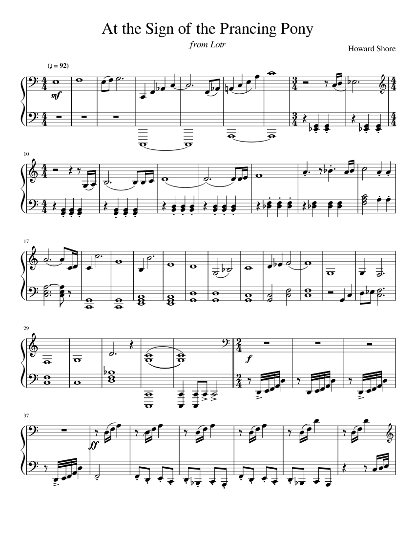 My little pony: friendship is magic sheet music download free in.