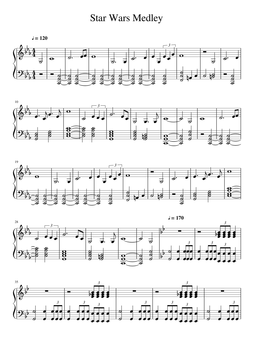 Star wars main title guitar sheet music – guitar chords.
