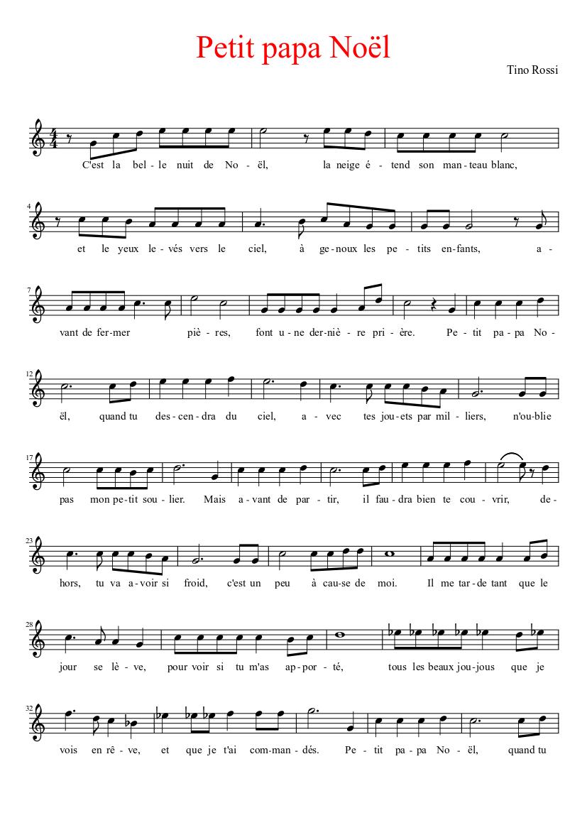 Petite Papa Noel Petit papa Noël Sheet music | Musescore.com