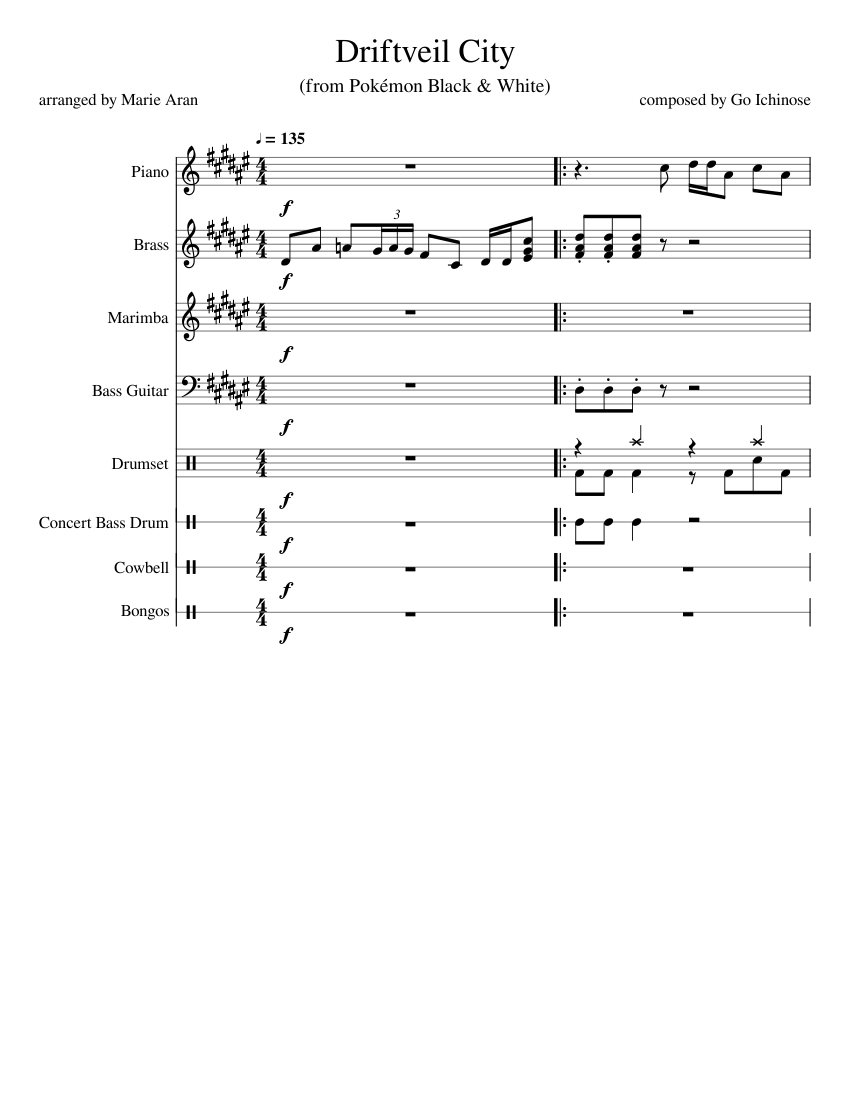 Driftveil City From Pokemon Black White Sheet Music For Piano Drum Group Bass Drum Marimba More Instruments Mixed Ensemble Musescore Com If you cannot see the audio controls. driftveil city from pokemon black