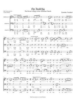 Որ Յանէից - Vor Haneits sheet music arranged by Avedis Özdemir for Choral
