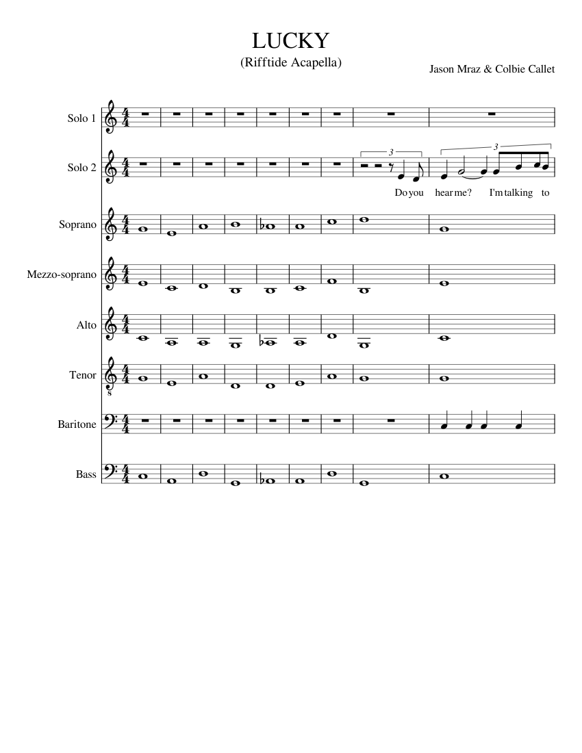 Lucky Sheet Music For Piano Download Free In Pdf Or Midi