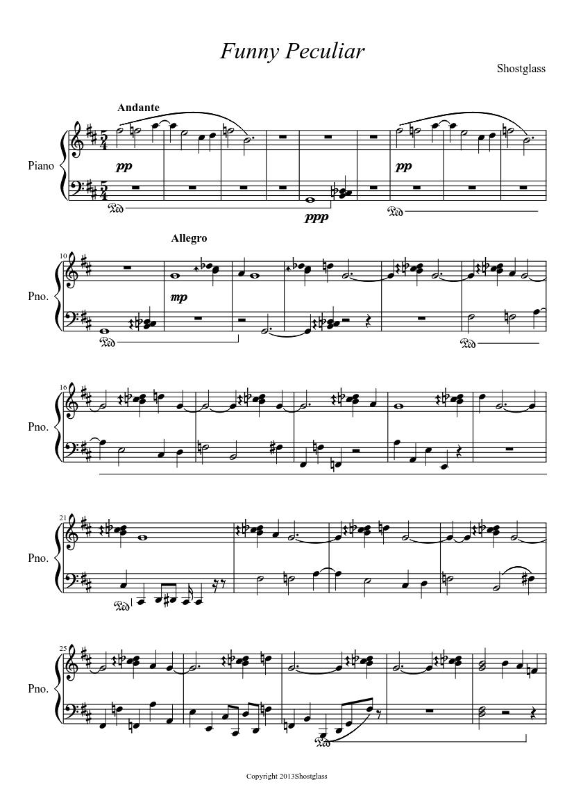 Funny Peculiar sheet music download free in PDF or MIDI