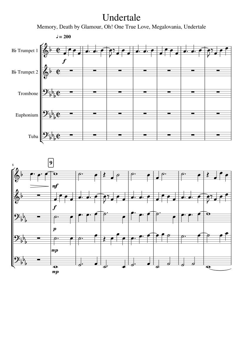tuba solo sheet music