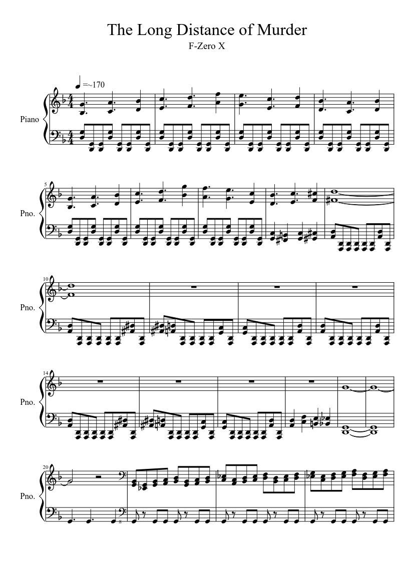 Big blue (f-zero) organ cover sheet music for organ download free.