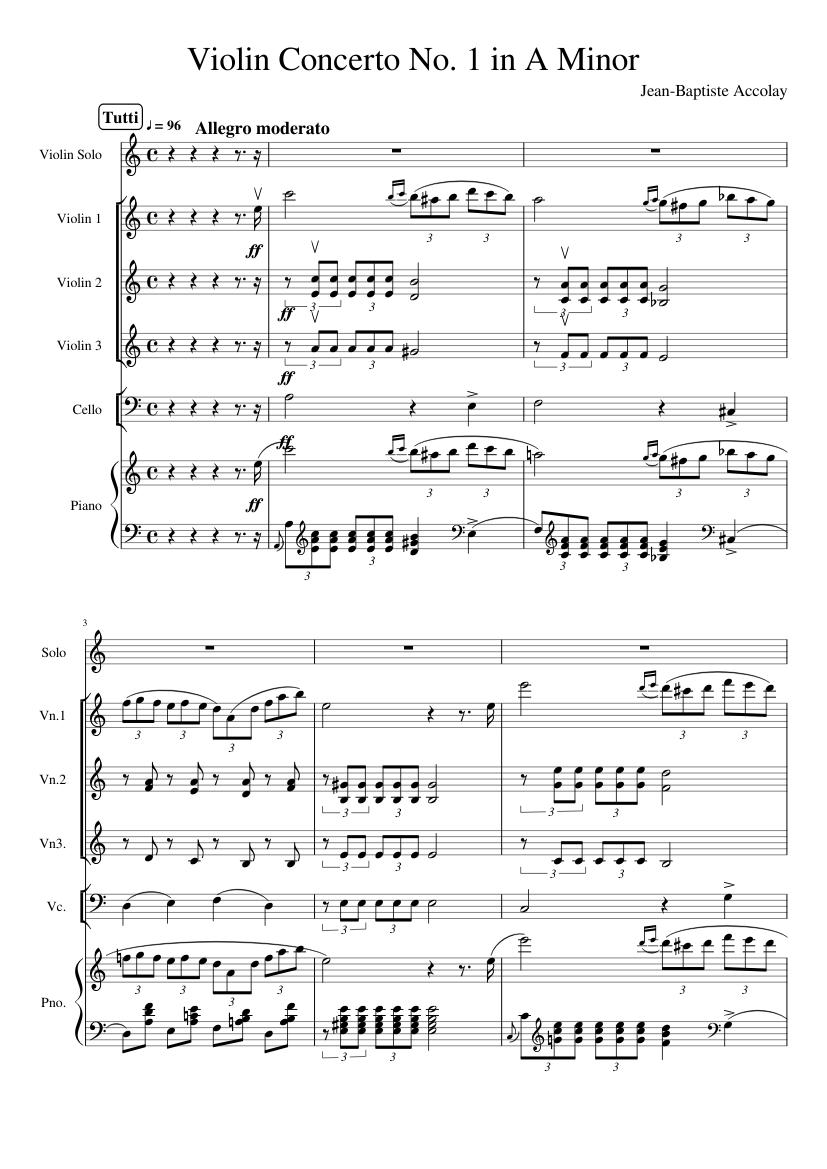 Violin Concerto No. 1 - Piano Score