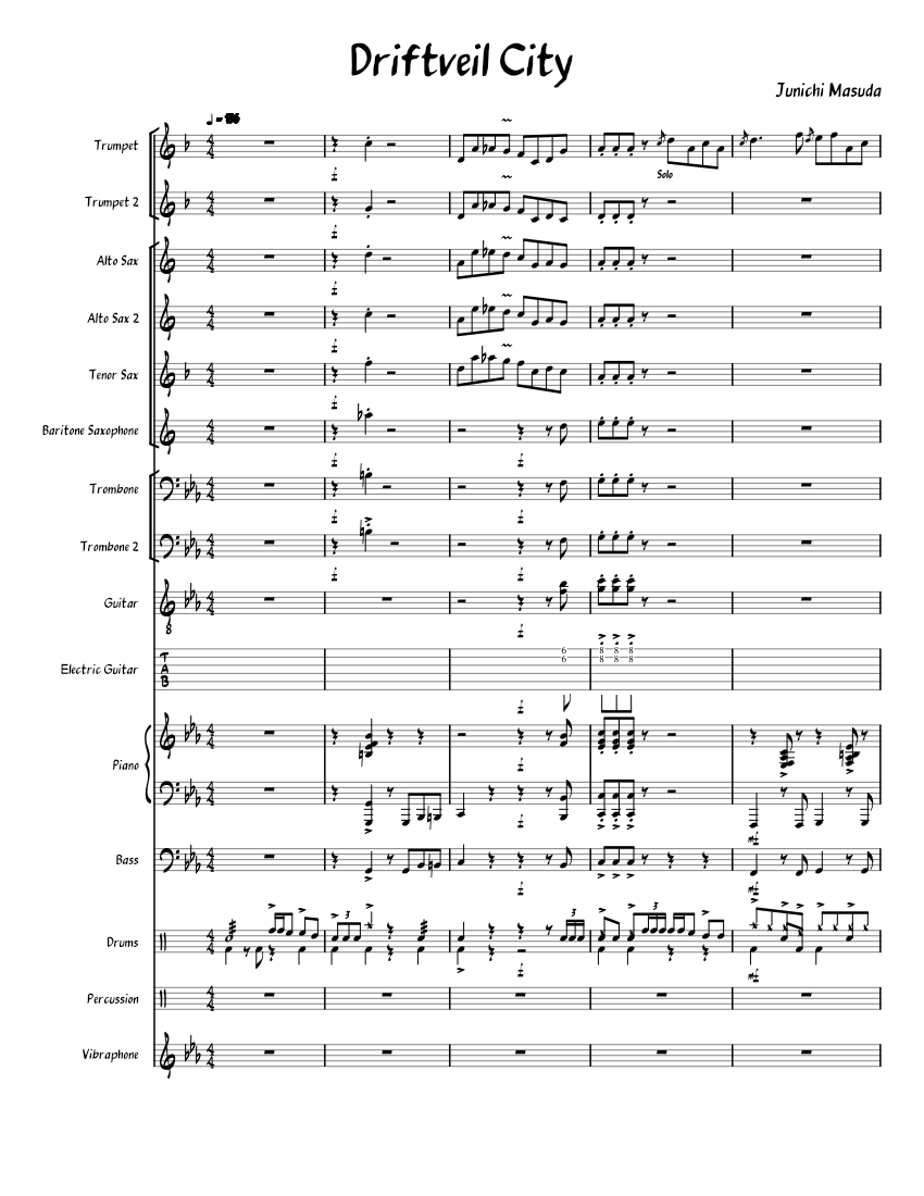 Driftveil City From Pokemon Black And White Jazz Band Sheet Music For Piano Trumpet In B Flat Trombone Drum Group More Instruments Mixed Ensemble Musescore Com According to the theorytab database, it is the 10th most popular key among minor keys and the 19th most popular among all keys. musescore com