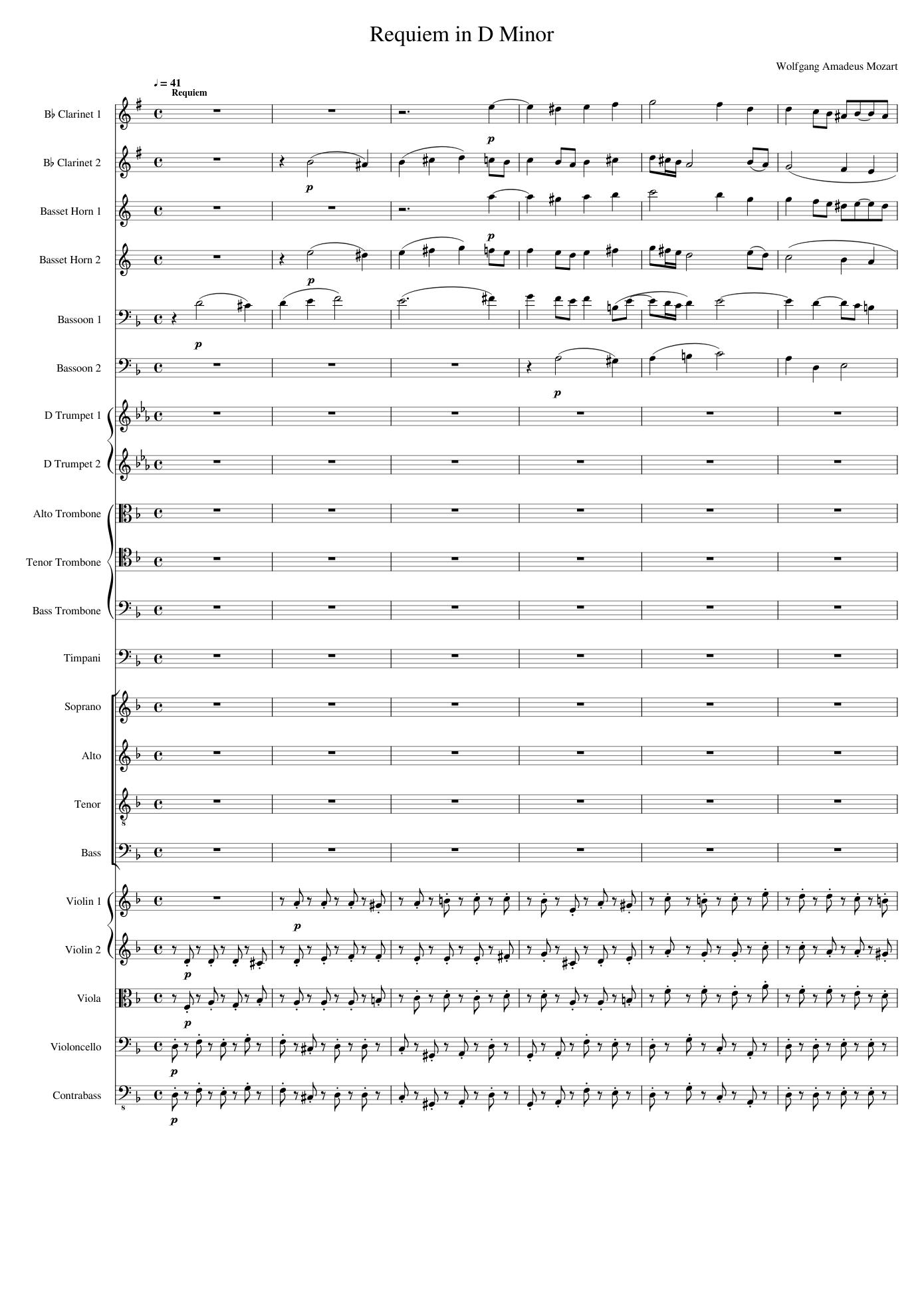 partitura requiem mozart k 626