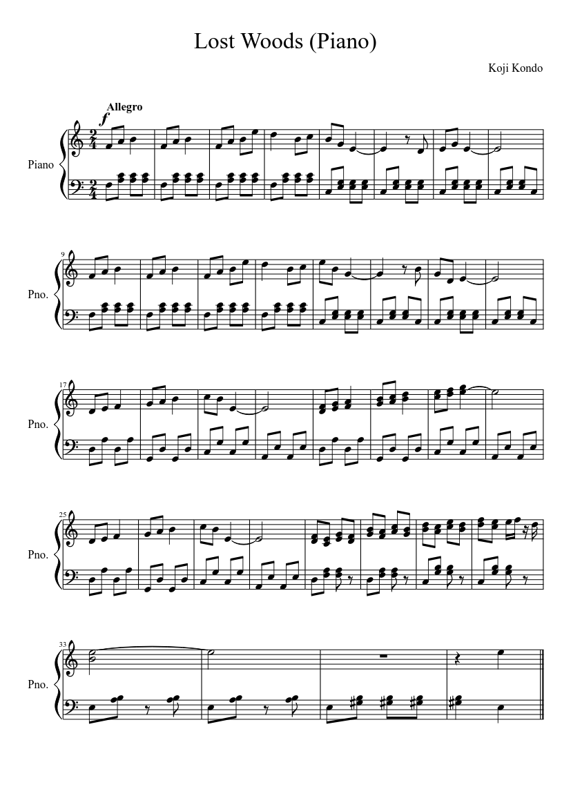 moments in the woods sheet music pdf