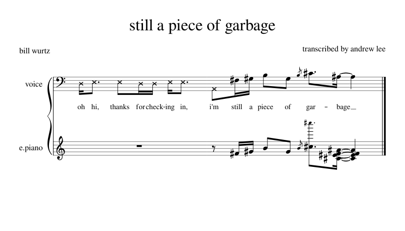 Still A Piece Of Garbage Bill Wurtz Piano Tutorial