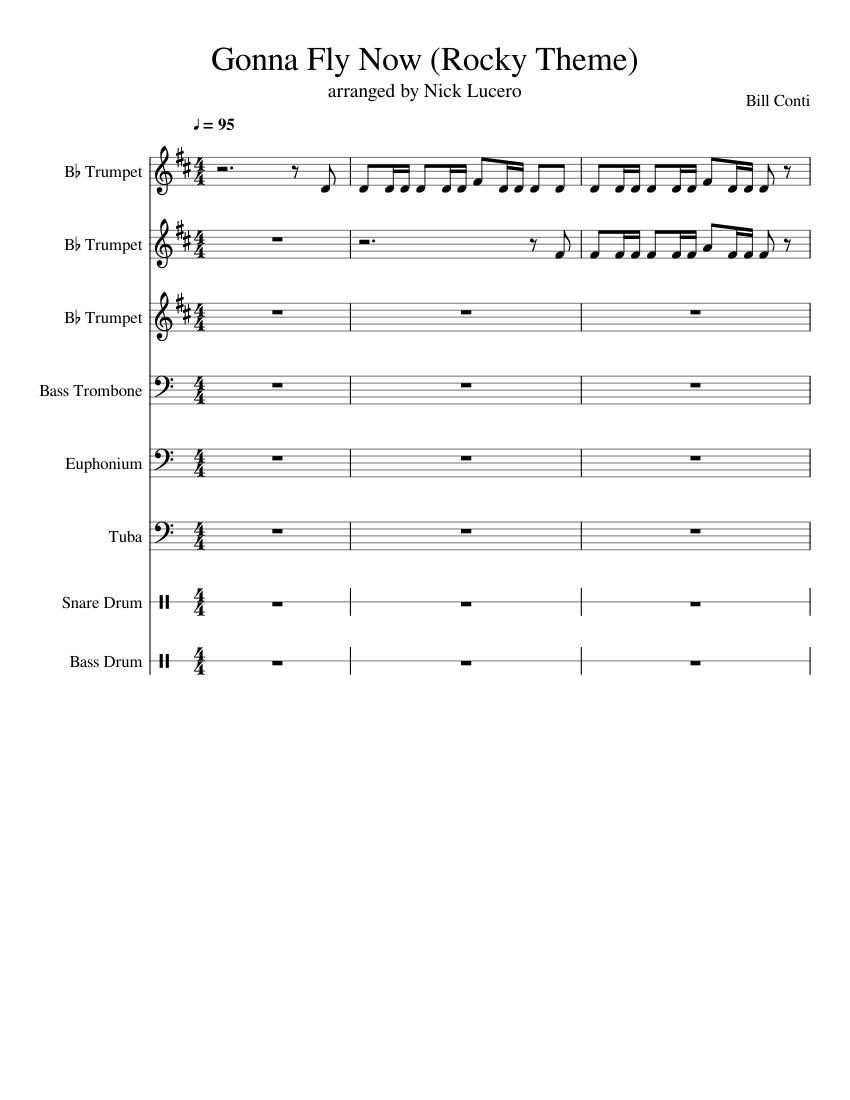 Rocky theme song sheet music for trumpet download free in pdf or midi.