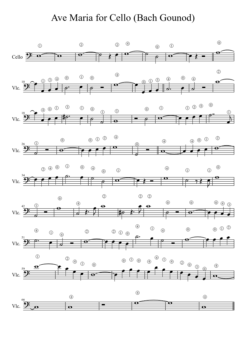Ave maria: flute and clarinet sheet music notes by charles.