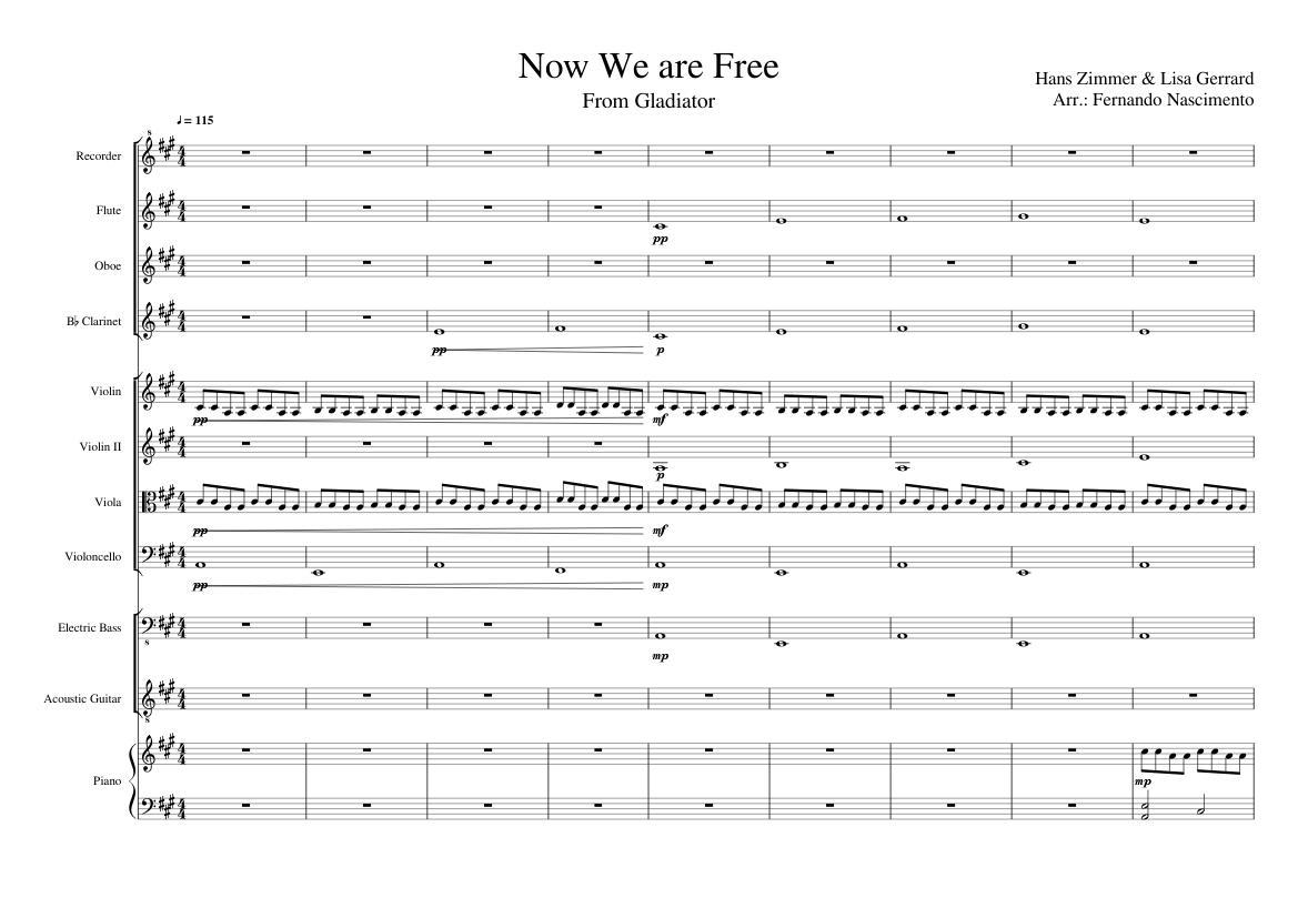 musica now we are free enya gratis