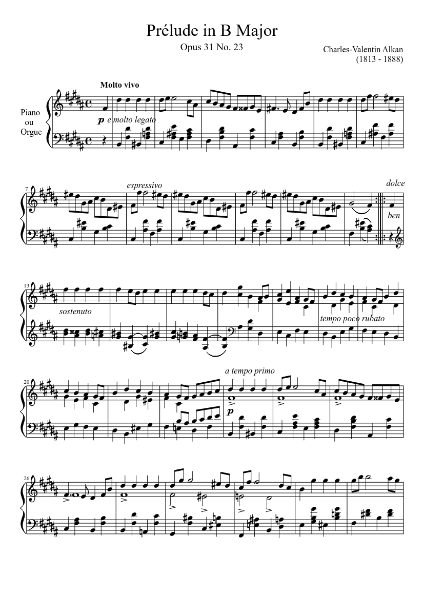 Download e-book Prélude in B Major