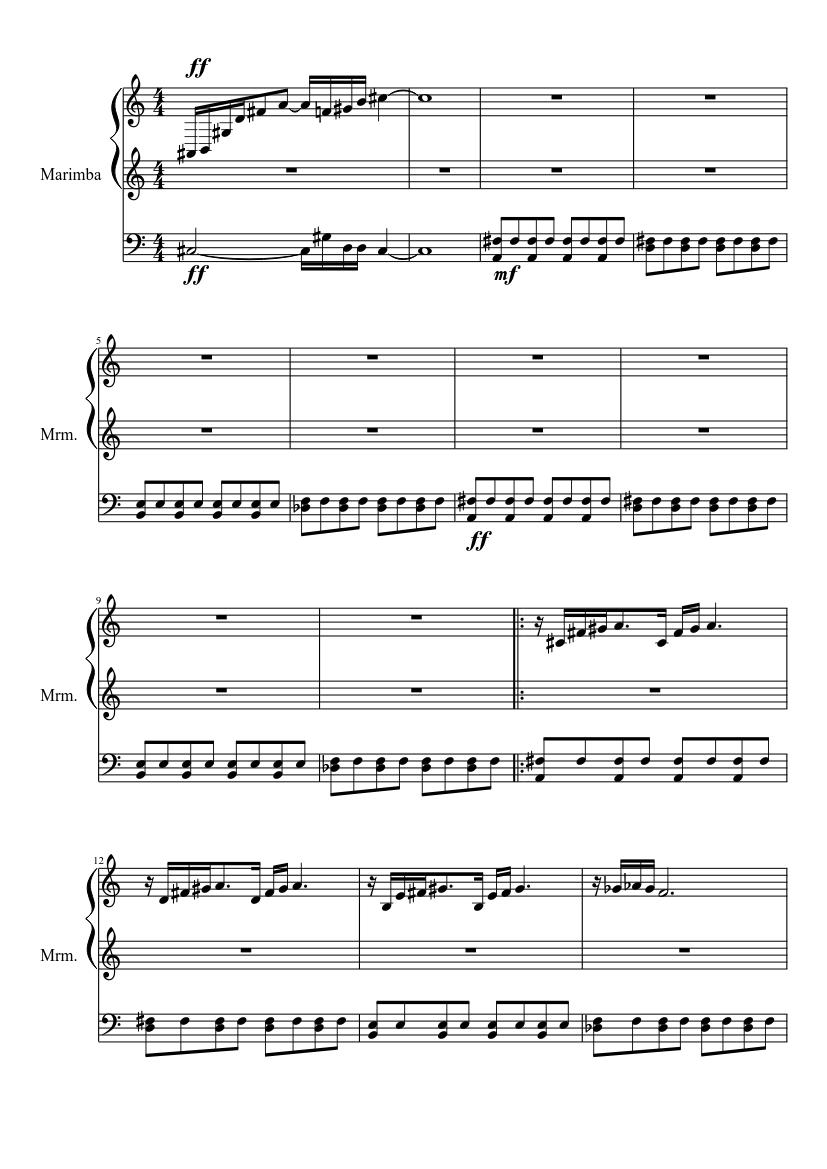 Gerudo Valley Theme Marimba Sheet Music Download Free In Pdf Or Midi