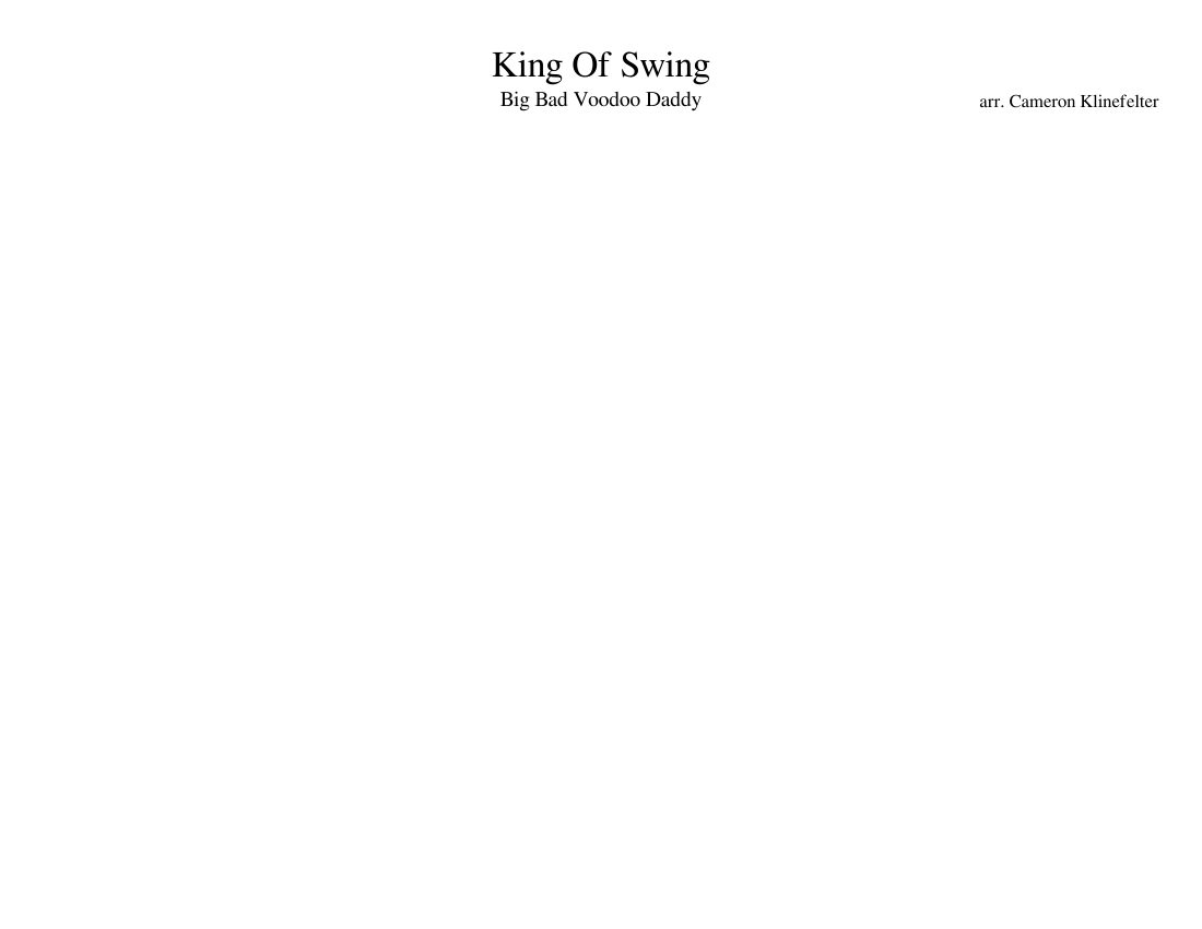 King Of Swing Big Bad Voodoo Daddy Sheet Music For Piano