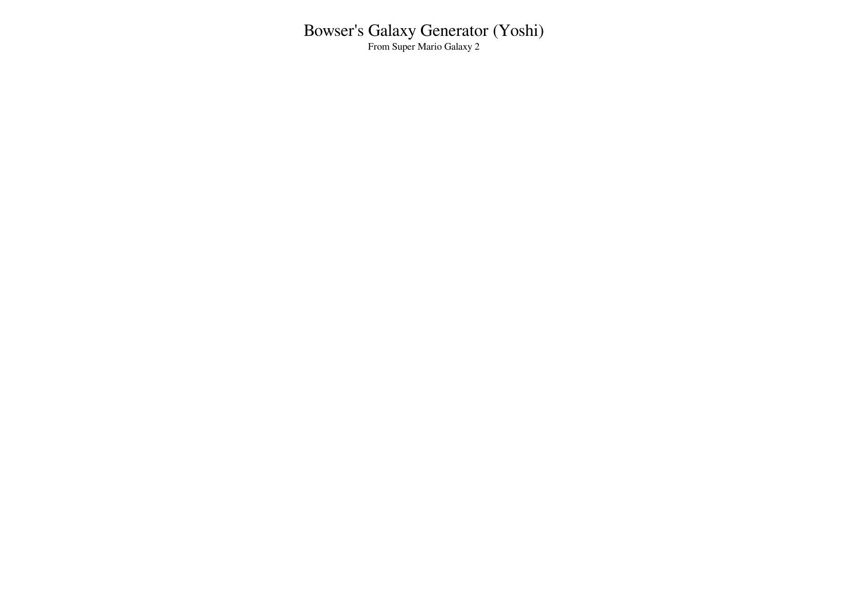 Bowser S Galaxy Generator Yoshi Super Mario Galaxy 2 Sheet Music For Trumpet In B Flat Violin Trombone Flute More Instruments Mixed Ensemble Musescore Com