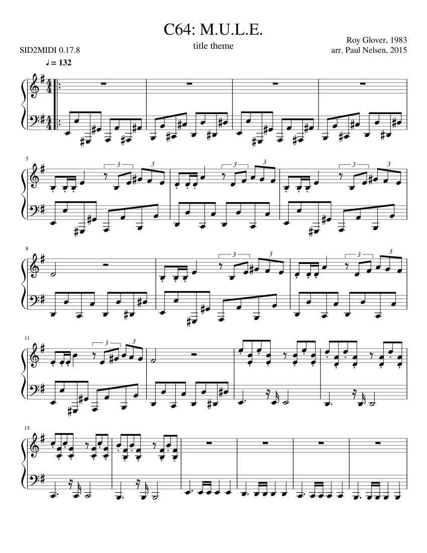 M U L E Sheet Music For Piano Solo Musescore Com