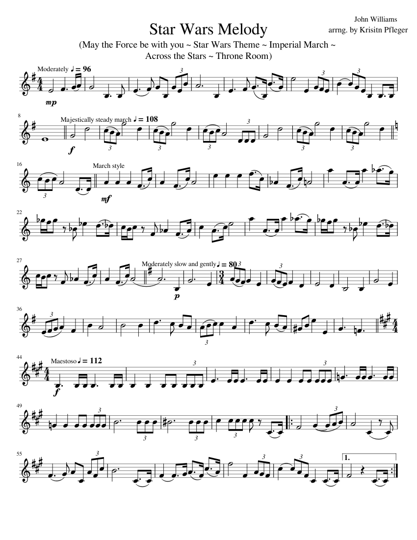 Star wars theme easy piano sheet music for piano download free.