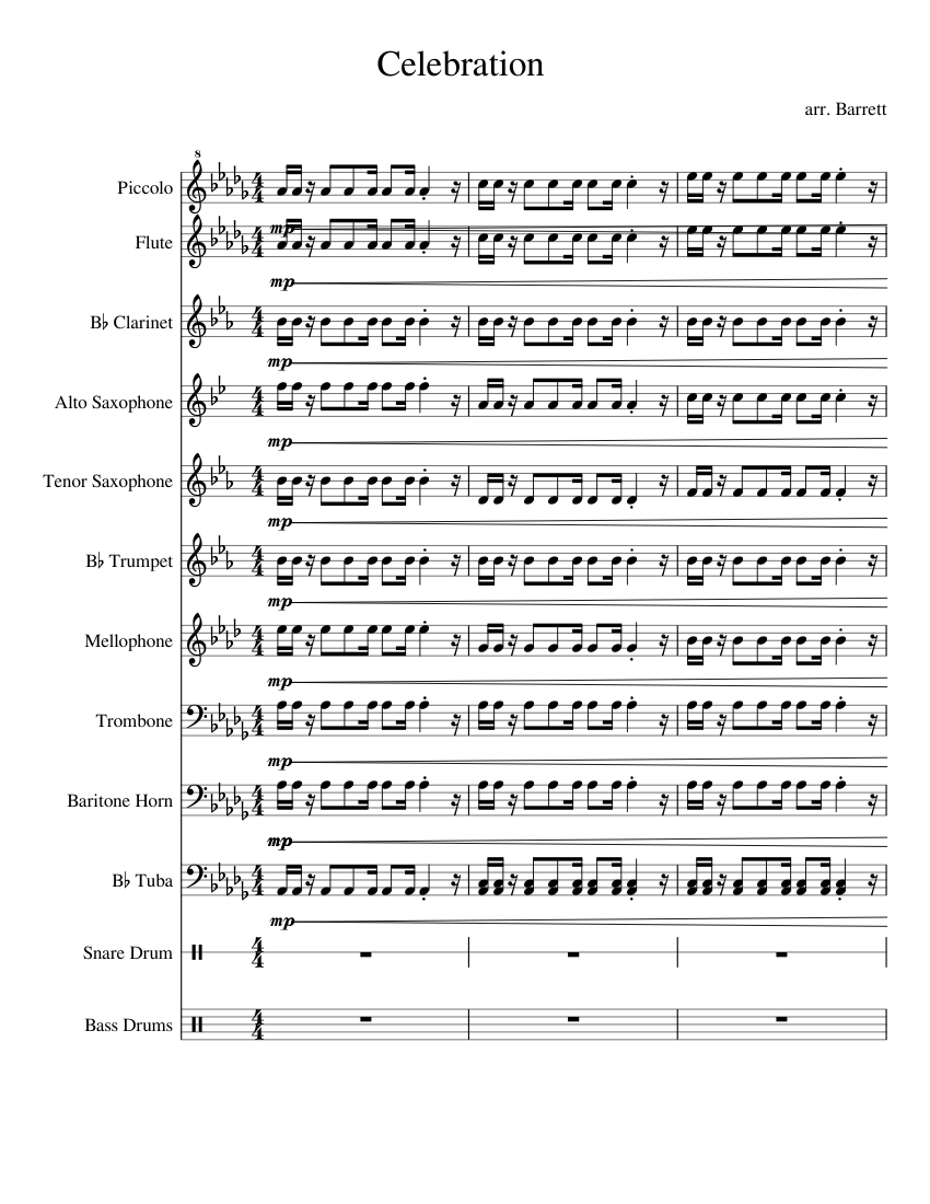Celebration (kool and the gang). Pdf forpiano.