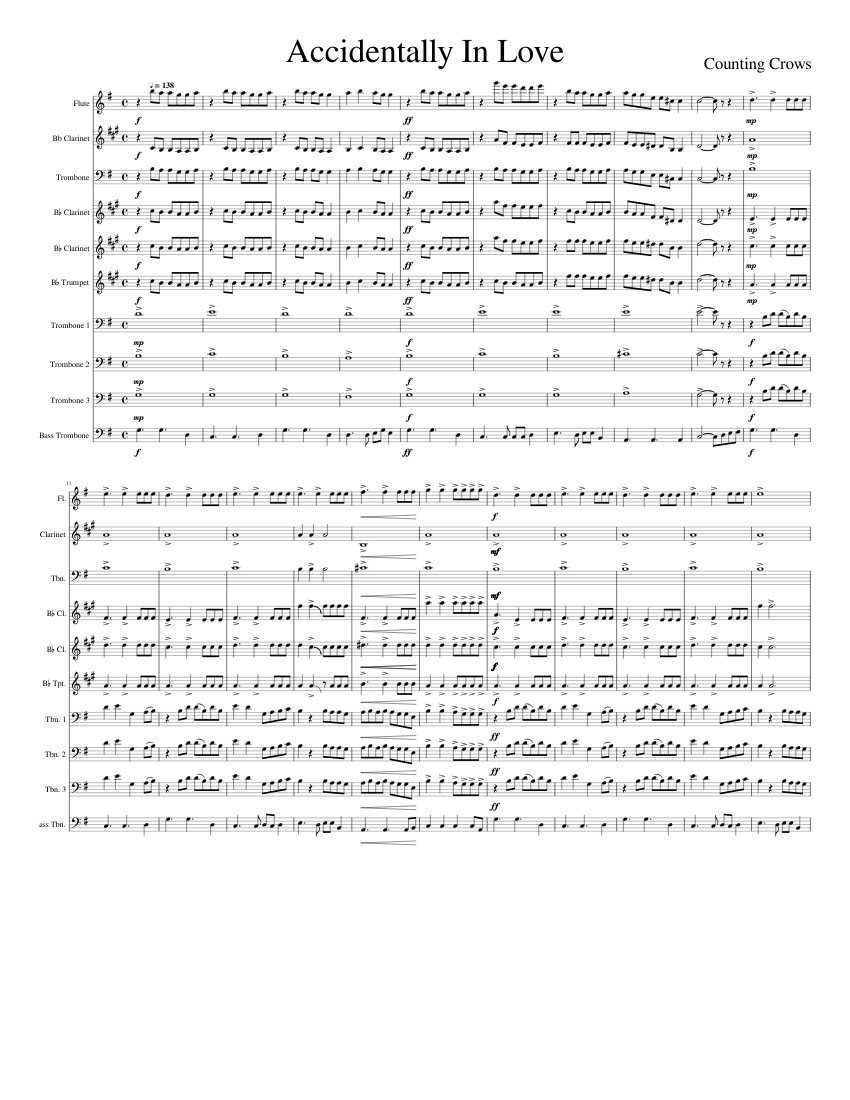 accidentally in love Sheet music for Trumpet In B Flat, Trombone ...