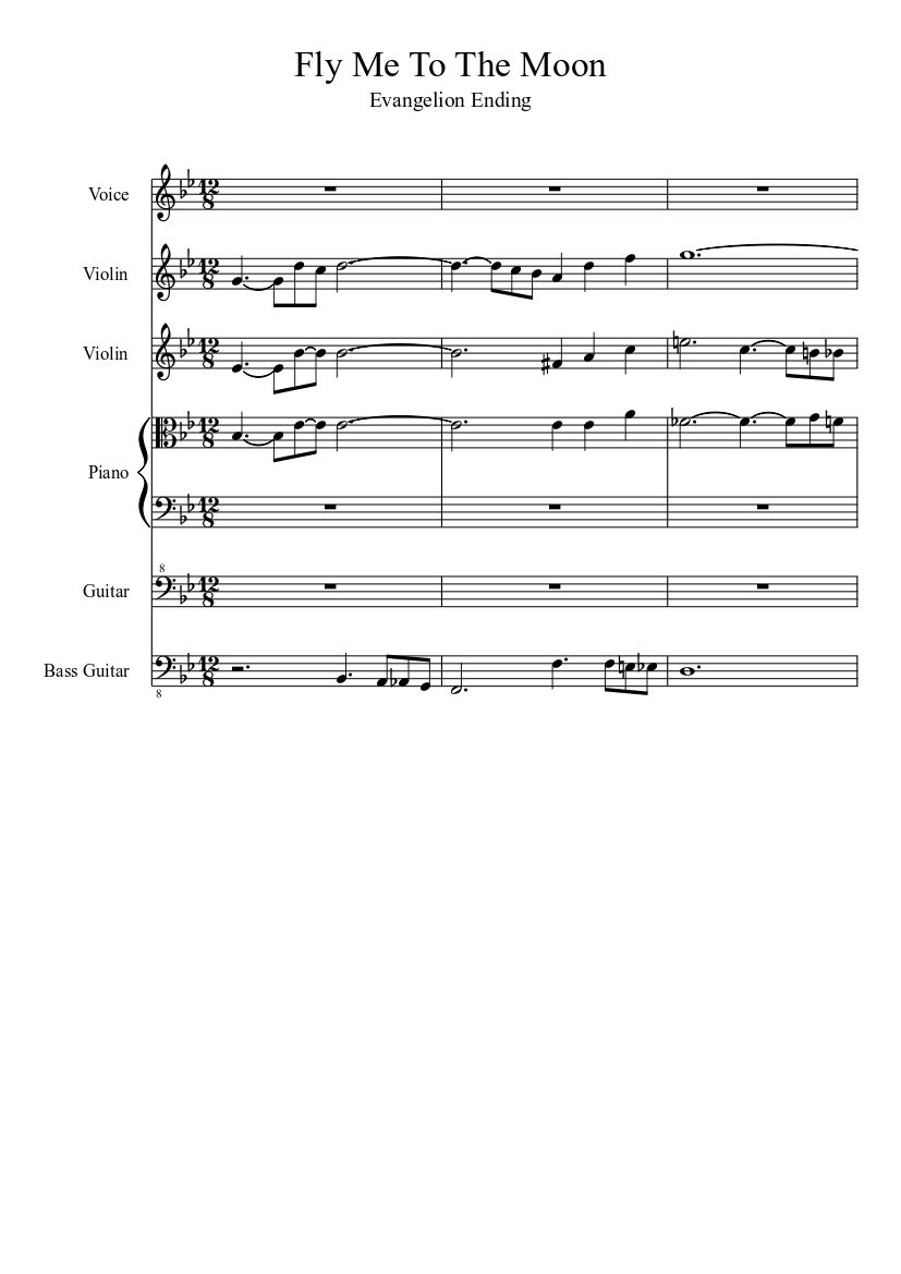 Fly Me To The Moon Sheet Music Download Free In Pdf Or Midi
