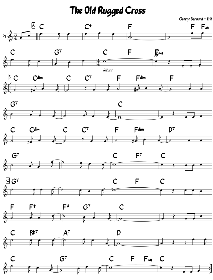 Old Rugged Cross Sheet Music | Taraba Home Review
